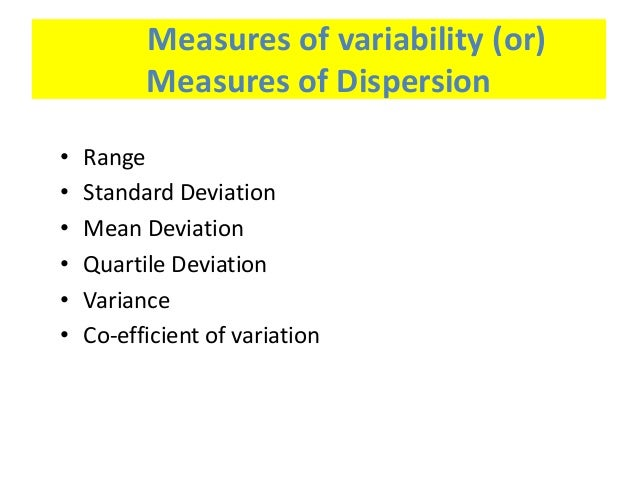 define measures of central tendency variability and relationship