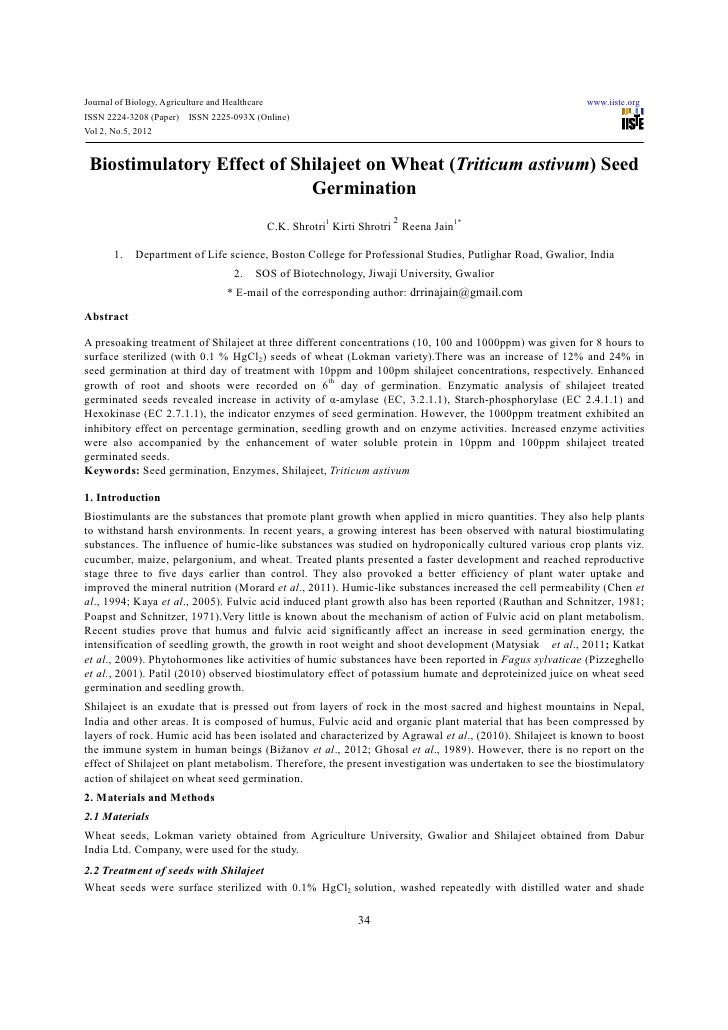 Journal of Biology, Agriculture and Healthcare                                                            www.iiste.orgISS...