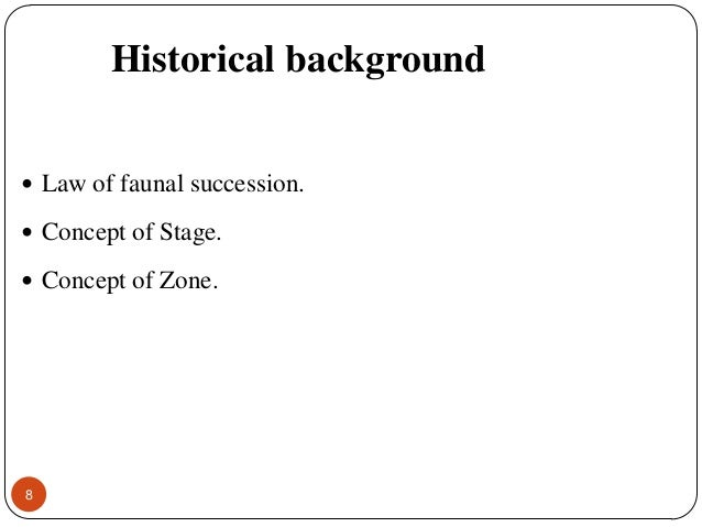 faunal succession definition