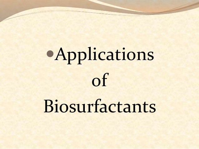 Biosurfactants Production And Applications