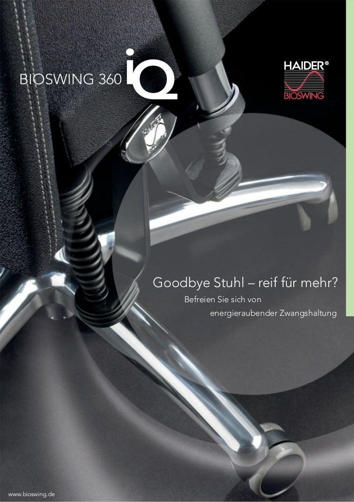 Goodbye Stuhl – reif für mehr?                       Befreien Sie sich von                              energieraubender Z...