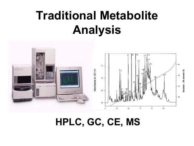 Traditional Metabolite Analysis HPLC, GC, CE, MS