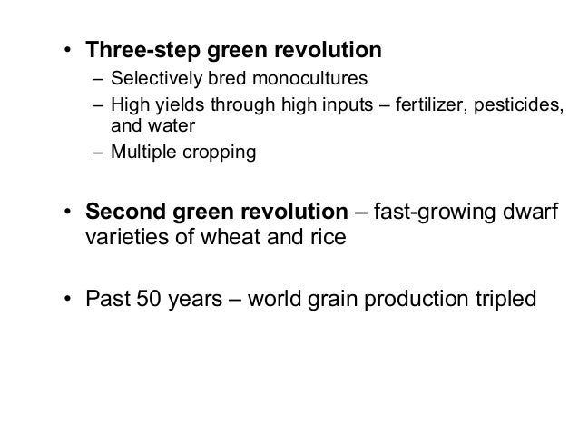 first and second green revolution biology essay The rockefeller foundation and the green revolution in mexico  the reports  are drawn from essays submitted by researchers who have visited the  one of  the first philanthropic organizations to devote substantial attention to solving  problems  second, the clear-cut purpose of map was to improve mexican food- crop.