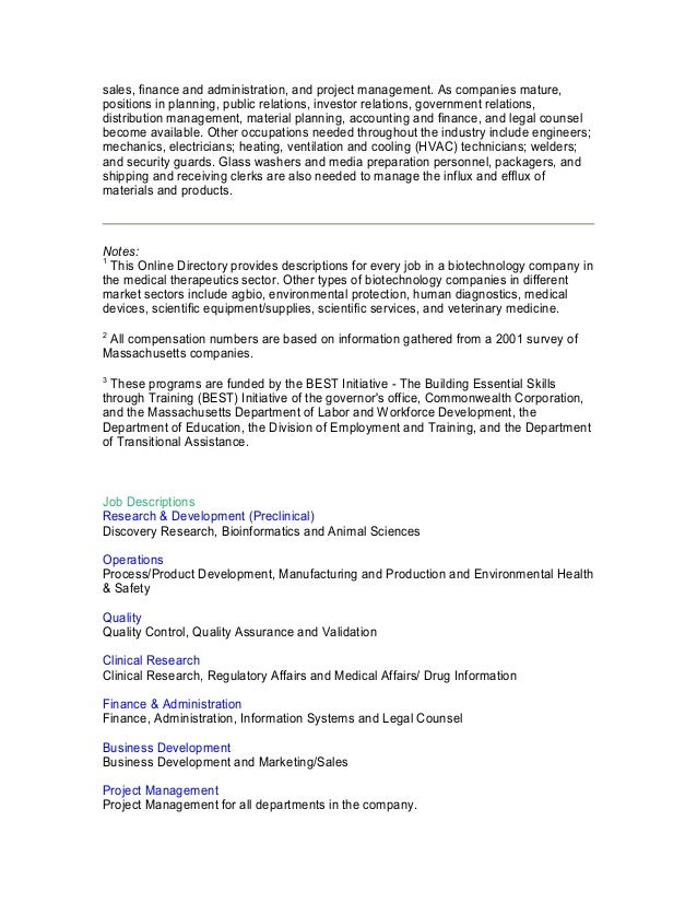 Biotech job descriptions salary ranges 2 malvernweather Gallery