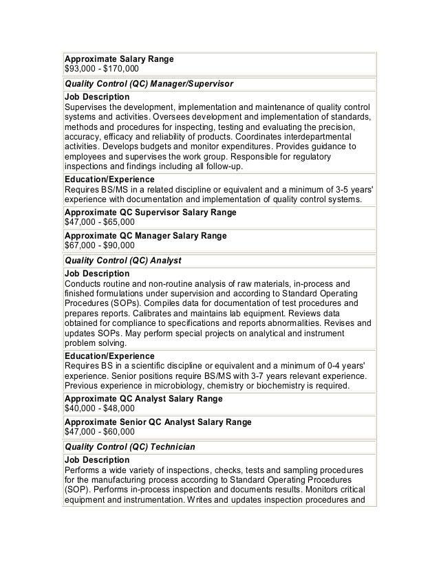 Biotech job descriptions salary ranges 22 approximate salary malvernweather Gallery