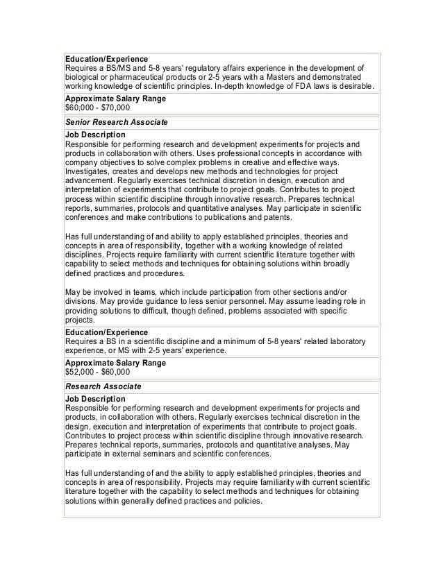 7 - Application Development Job Description