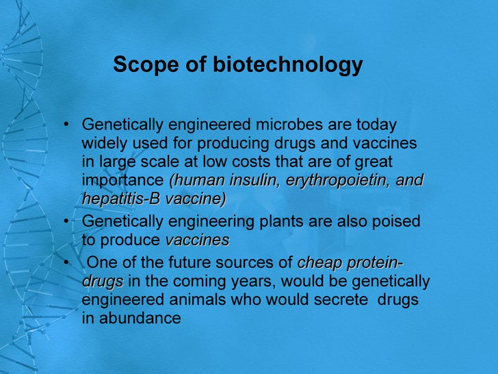 biotechnology importance and application Biotechnology is a frontline technologies today being developed and used to understand and manipulate biological molecules for applications in medical, agricultural, industrial and environmental sectors of the national economy.