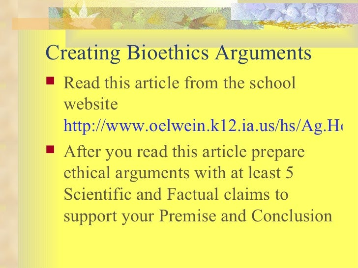 an argument in favor of biotechnology Food and agricultural biotechnology: of a new kind of argument against agricultural biotechnology opinion in favor of biotechnology are not the.