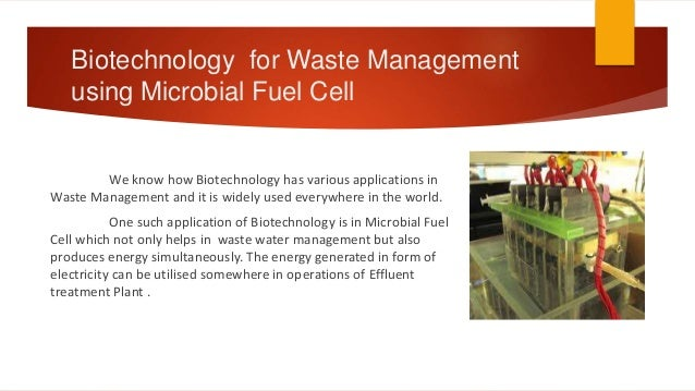 biotechnology for waste and wastewater Biotechnology for treatment of hospital wastewater  'for a membrane to retain  compounds as small as medicine in waste water is extremely.