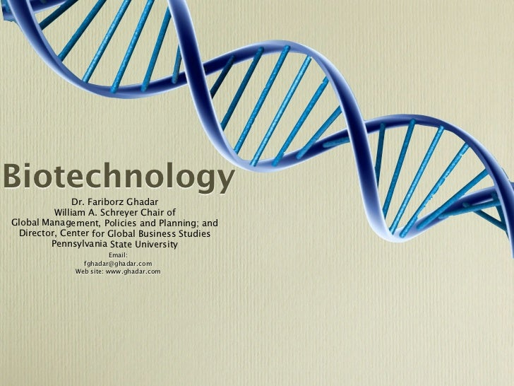 Biotechnology              Dr. Fariborz Ghadar         William A. Schreyer Chair ofGlobal Management, Policies and Plannin...