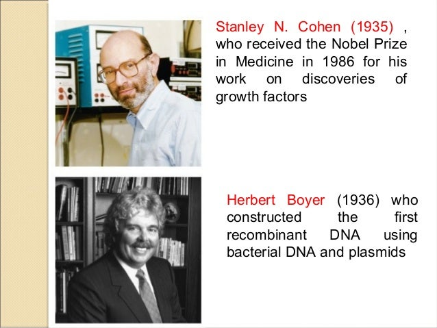 in 1973 stanley cohen and herbert boyer biology essay In 1973 herbert boyer and stanley cohen created the first transgenic organism by inserting antibiotic  kevin vankham essay 2  biology and scientific.