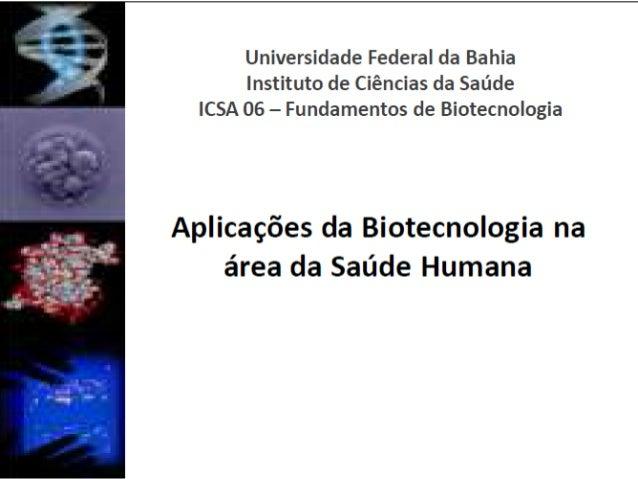 ICSA06 - Biotecnologia e saúde humana