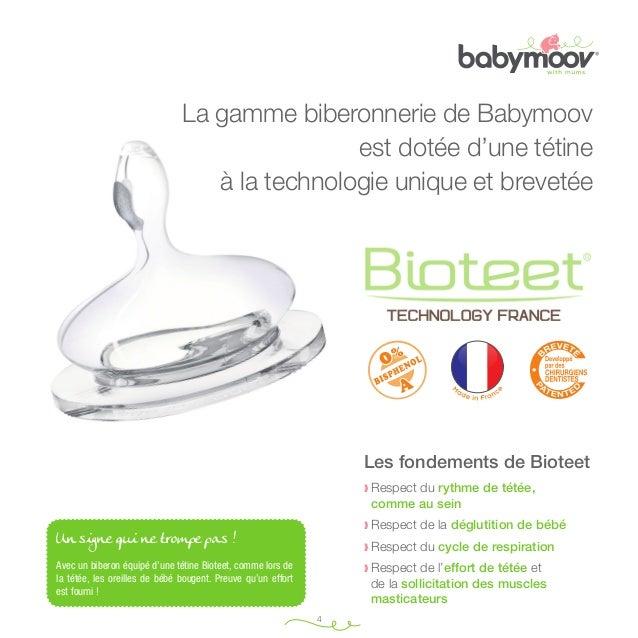 Taille minimale (du b au v) : 70 mm  La gamme biberonnerie de Babymoov est dotée d'une tétine à la technologie unique et b...