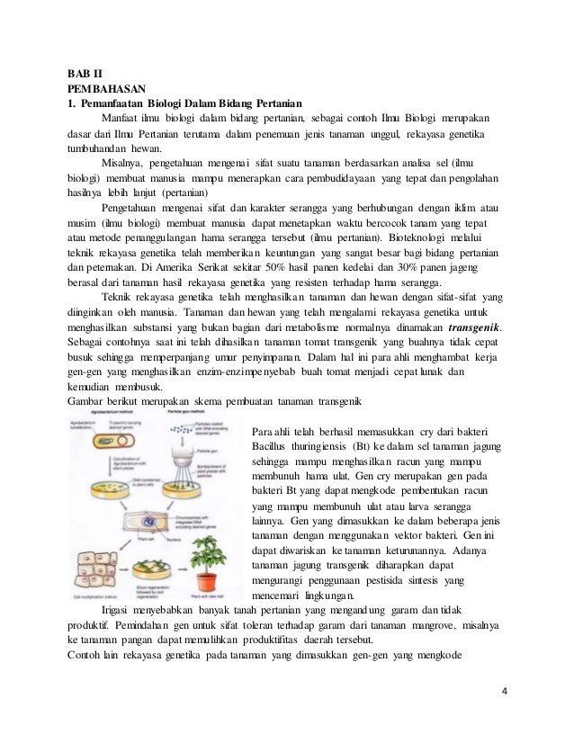 Bioteknologi Dalam Bidang Pertanian