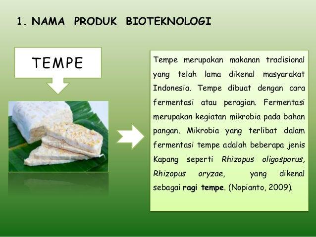 Bioteknologi Pembuatan Tempe