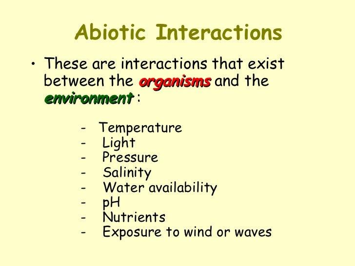 biotic interactions