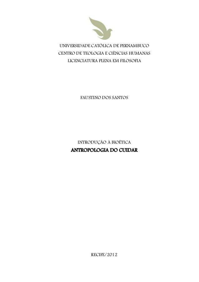 UNIVERSIDADE CATÓLICA DE PERNAMBUCOCENTRO DE TEOLOGIA E CIÊNCIAS HUMANAS   LICENCIATURA PLENA EM FILOSOFIA        FAUSTINO...
