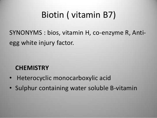 Biotin ( vitamin B7) Egg white injury, Leiner's disease Slide 3