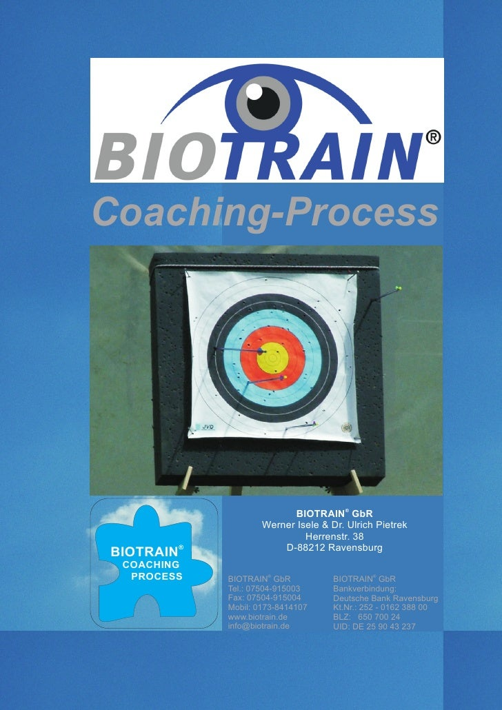 Coaching-Process                                              ®                              BIOTRAIN GbR                 ...