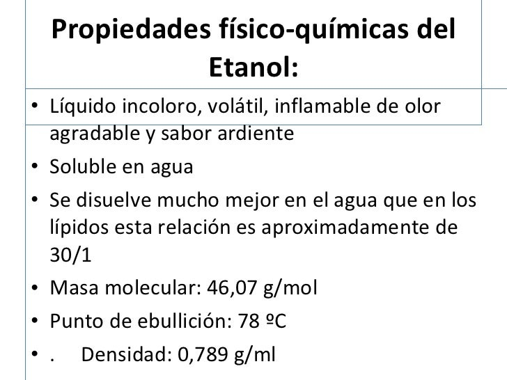 Biotransformaci n del etanol y metanol s9 - Usos del alcohol ...