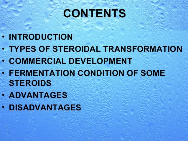 microbial transformation of steroids Microbial transformation by:  biotransformation of steroids  microbial pigments.