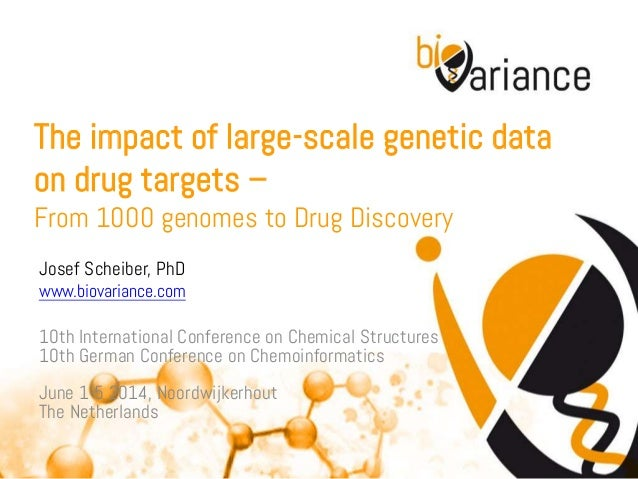 The impact of large-scale genetic data on drug targets – From 1000 genomes to Drug Discovery Josef Scheiber, PhD www.biova...