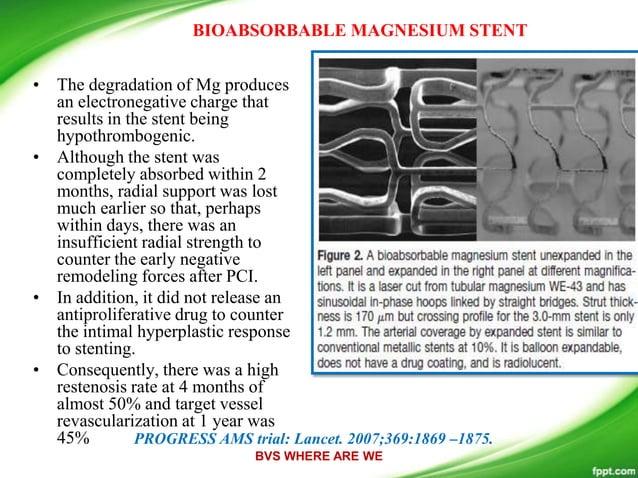 Stent: Bioabsorbable Magnesium Alloy Discrete Drug Delivery Reservoirs Drug: Pimecrolimus Carrier: Bioresorbable Matrix Mo...