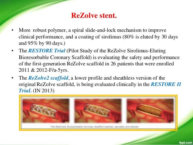• Two versions of the stent have been developed. • The design of the BVS stent Revision 1.0 consists of circumferential ou...