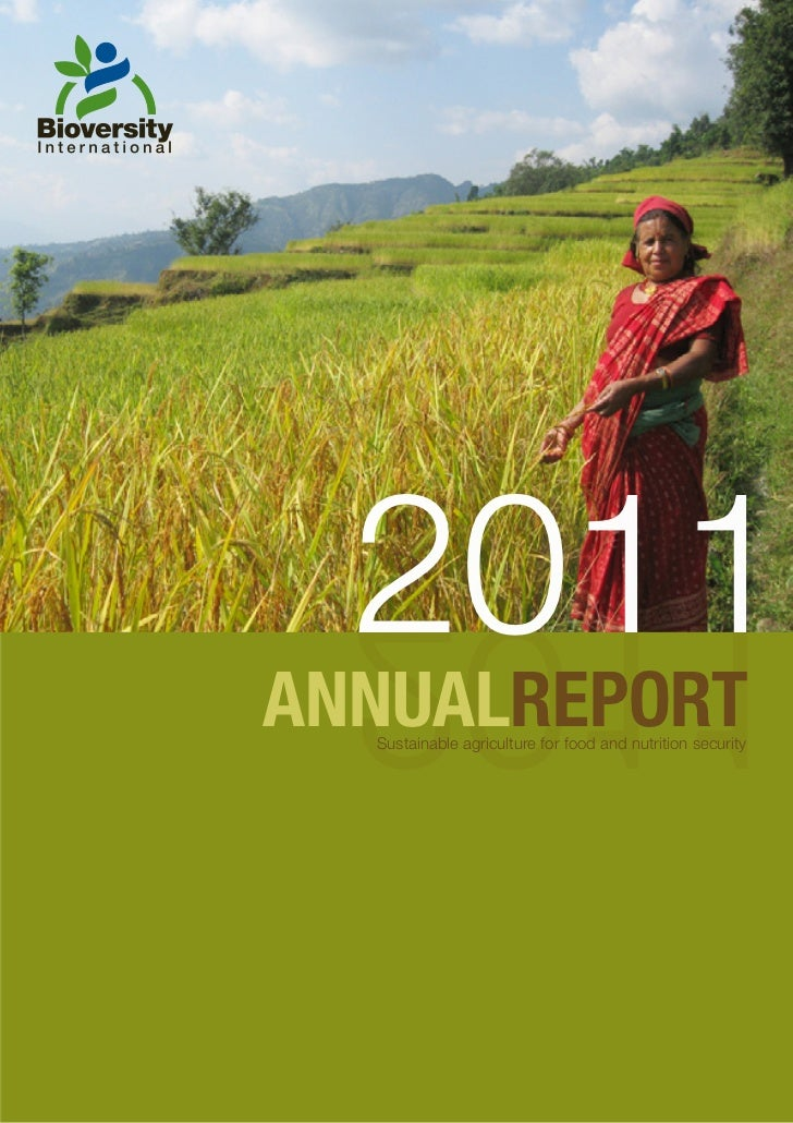 2011  1102ANNUALREPORT  Sustainable agriculture for food and nutrition security
