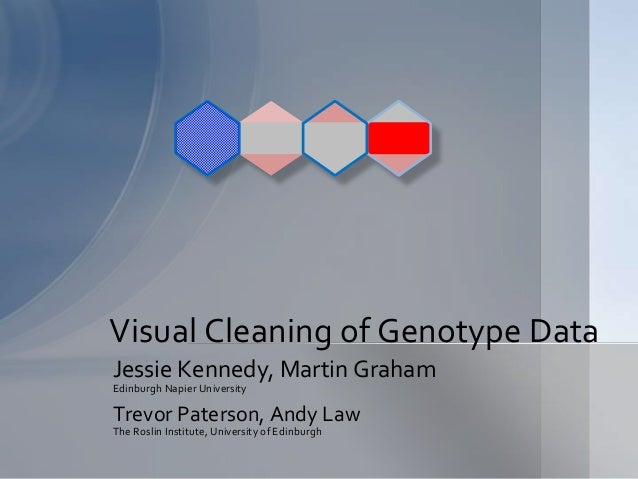 Visual Cleaning of Genotype Data  Jessie Kennedy, Martin Graham  Edinburgh Napier University  Trevor Paterson, Andy Law  T...