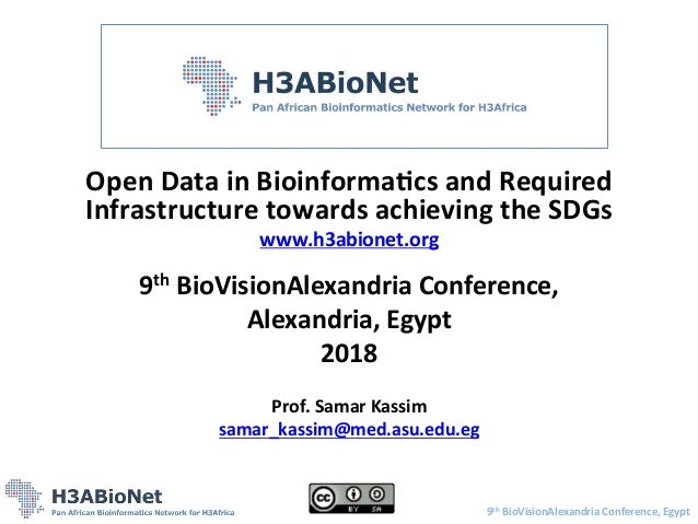 Open	   Data	   in	   Bioinforma/cs	   and	   Required	    Infrastructure	   towards	   achieving	   the	   SDGs	    www.h...
