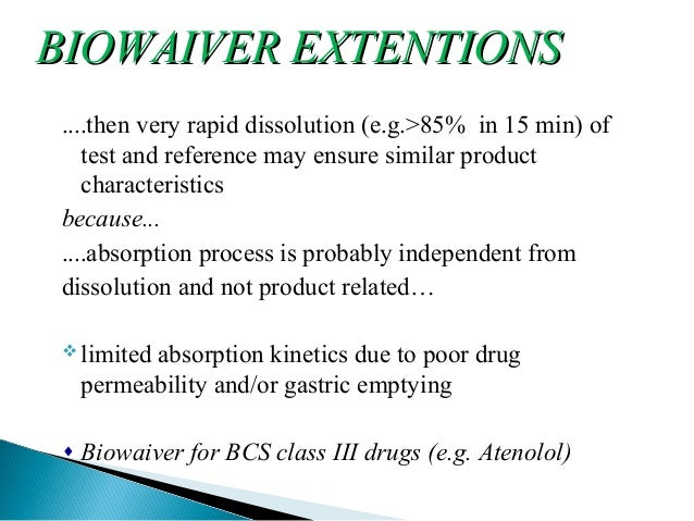 Biowaiver Studies of Atenolol Tablets (100mg) - An ...