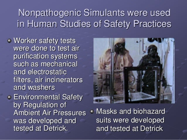 Biowarfare to biodefense operation whitecoat & usamriid history