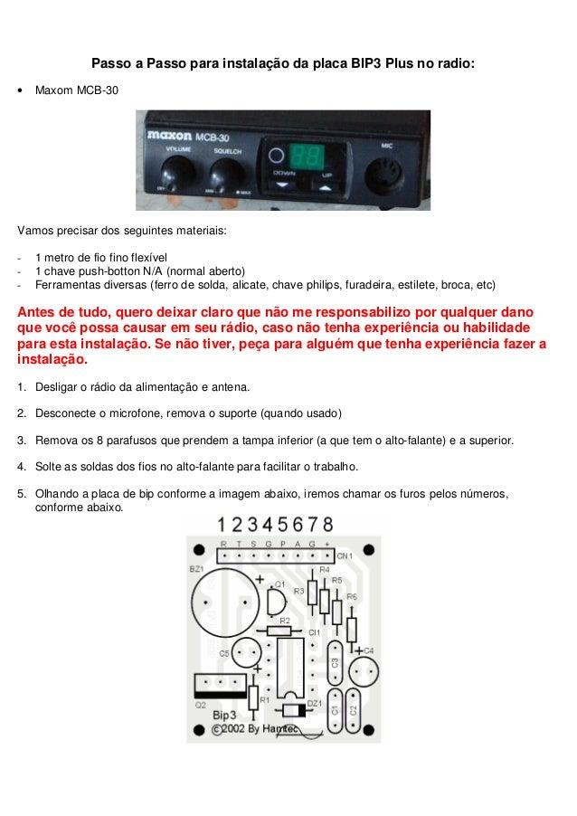 Passo a Passo para instalação da placa BIP3 Plus no radio:•   Maxom MCB-30Vamos precisar dos seguintes materiais:-   1 met...