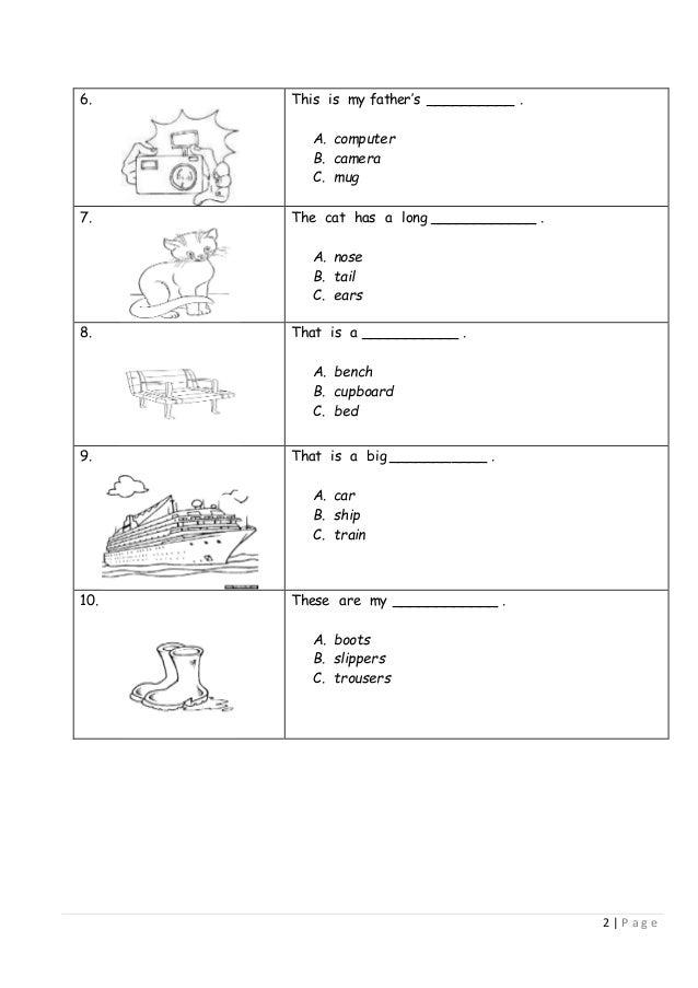 Kssr Year 1 English Exam