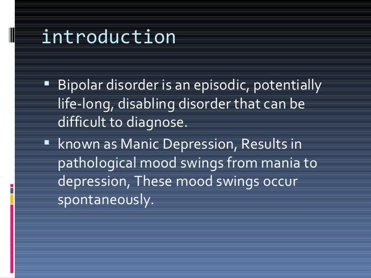 Bipolar disorder Slide 2