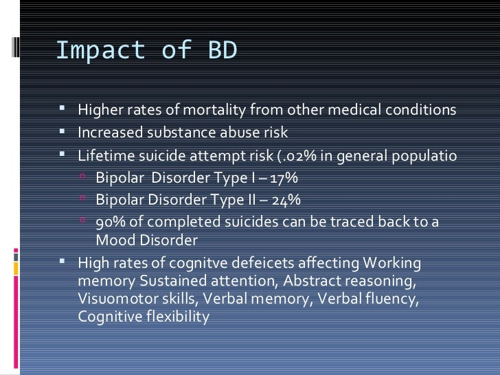 the impact of bipolar disorder on Previous article in issue: neuropsychological deficits and functional impairment in bipolar depression, hypomania and euthymia previous article in issue: neuropsychological deficits and functional impairment in bipolar depression, hypomania and euthymia next article in issue: social functioning in.