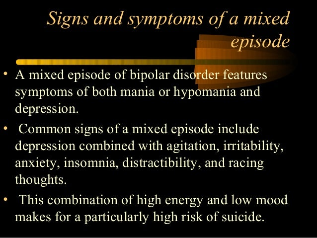 the history and symptoms of bipolar disorder