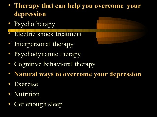 Natural Ways To Overcome Severe Depression
