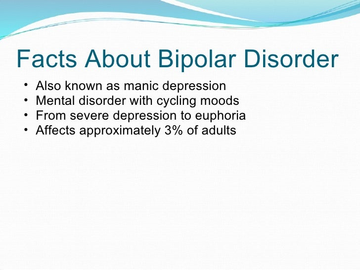 symptoms and treatment of bipolar disorder Treatment of patients with bipolar disorder 5 patients with bipolar i disorder have episode but who have experienced numerous periods of depressive symptoms.