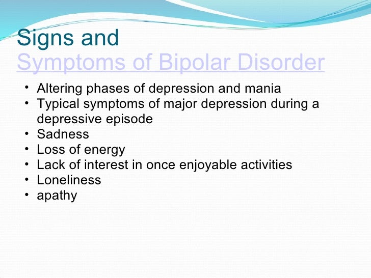 symptoms of manic depression My knowledge of bipolar depression symptoms has been gained the hard way  for many years i suffered from depression but had no idea that what i really had.