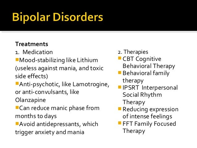 Dating someone who is bipolar side effects