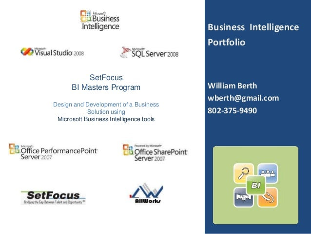 Business Intelligence                                         Portfolio           SetFocus      BI Masters Program        ...