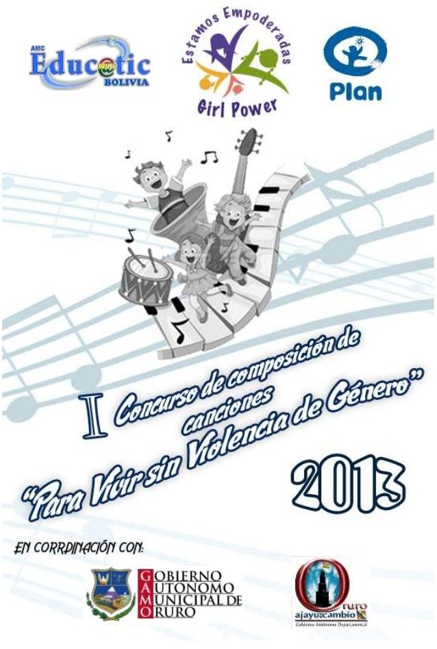 BASES  CONVOCATORIA  Inscribir una canción en este concurso implica la aceptación de las presentes bases y del premio, en ...