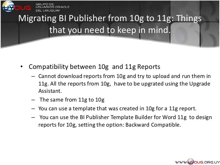 Bi Publisher 11g: Only good news