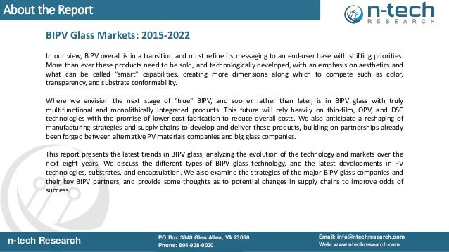 BIPV Glass Markets 2015 2022 Slides Slide 3