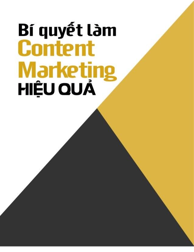Bí quyết làm Content Marketing hiệu quả