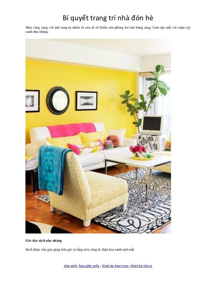 Bi quyet trang tri nha don he for Sofa bed nha xinh