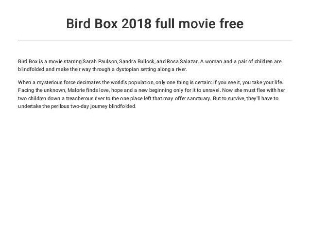 bird box movie free