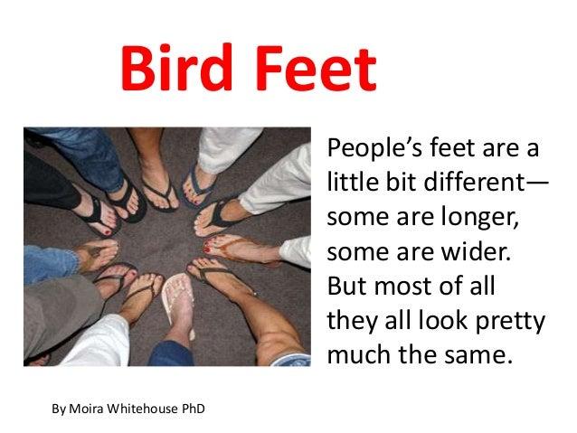 Bird Feet                          People's feet are a                          little bit different—                     ...